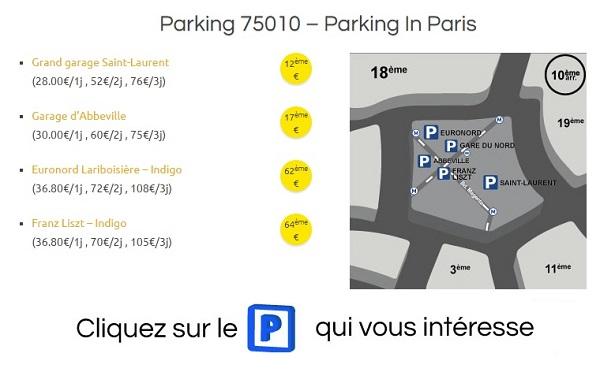 parking gratuit paris 10eme